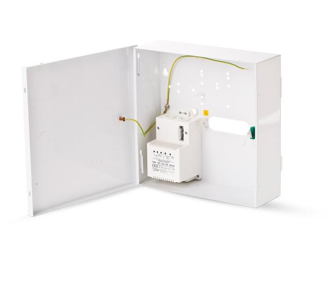 Kovový box so zdrojom 230/18V, 40W pre  ESIM364/384