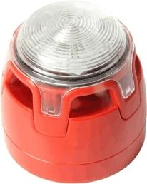 Siréna viactónová červená konvenčná so strobo, 100dB - CWSS-RR-S5