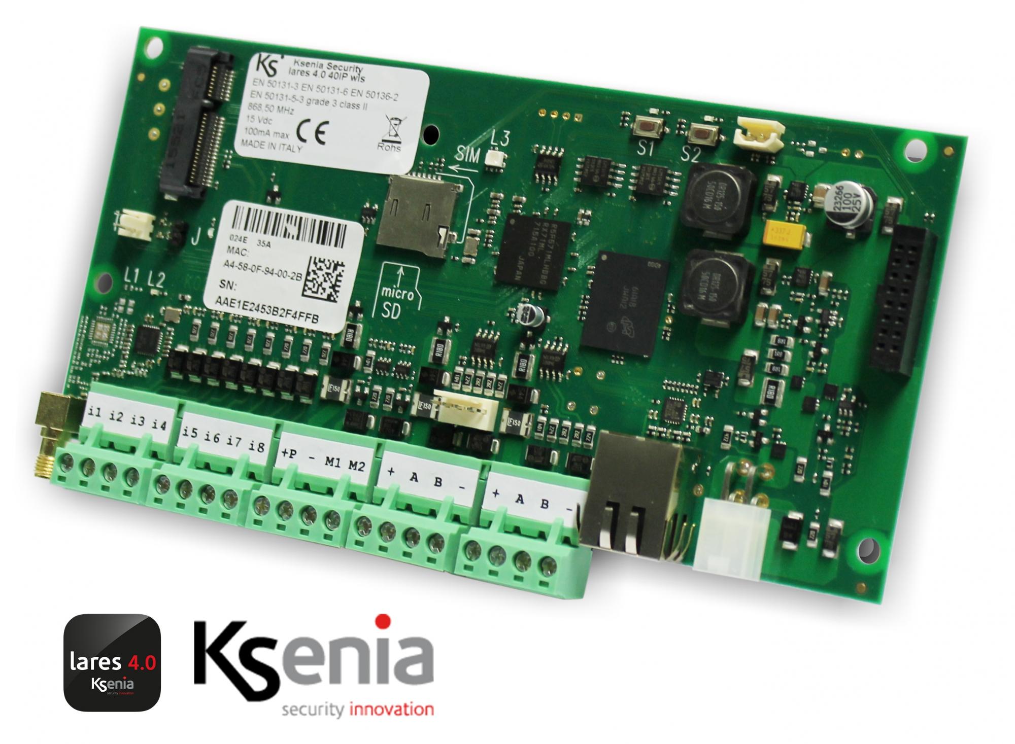 Ústredňa lares 4.0 40-IP s bezdrôtovou nadstavbou