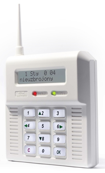 CB32GB - bezdrôtová GSM ústredňa - biele podsvietenie
