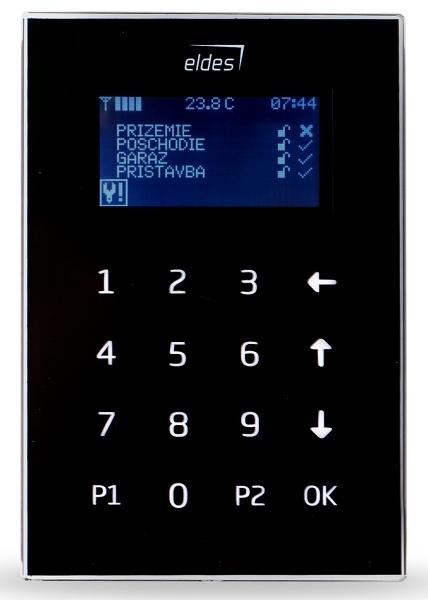 EKB2 - LCD klávesnica, čierna
