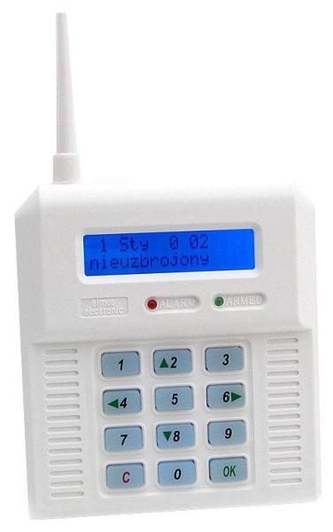 CB32GN - bezdrôtová GSM ústredňa - modré podsvietenie