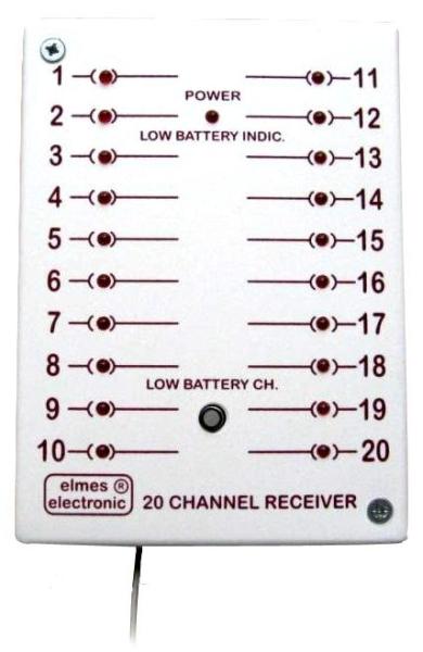 CH20HR - 20 kanálový prijímač 20 relé + 20 LED