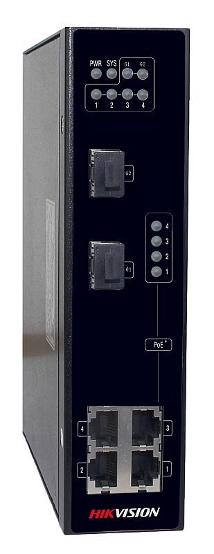 DS-3T0306P - PoE switch priemyselný