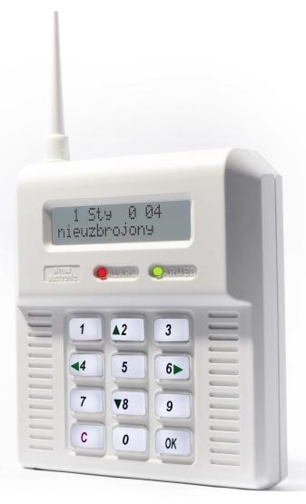 CB32BB - bezdrôtová ústredňa - biele podsvietenie