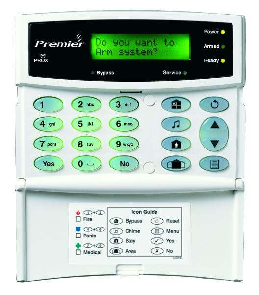 Premier P LCD klávesnica s čítačkou