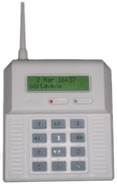 CB32BZ - bezdrôtová ústredňa - zelené podsvietenie